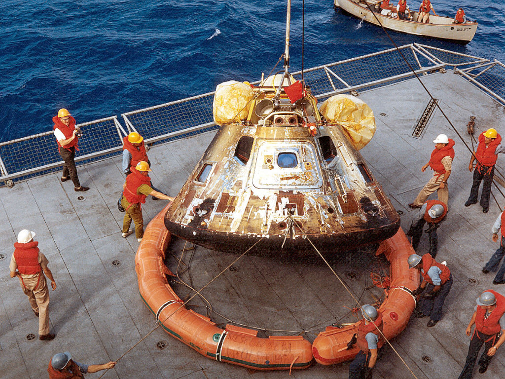 Apollo 16 Crew Recovery (page 2) - Pics about space