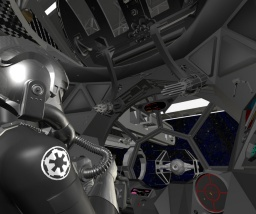 Explore TIE Interceptor with Pilot Mesh