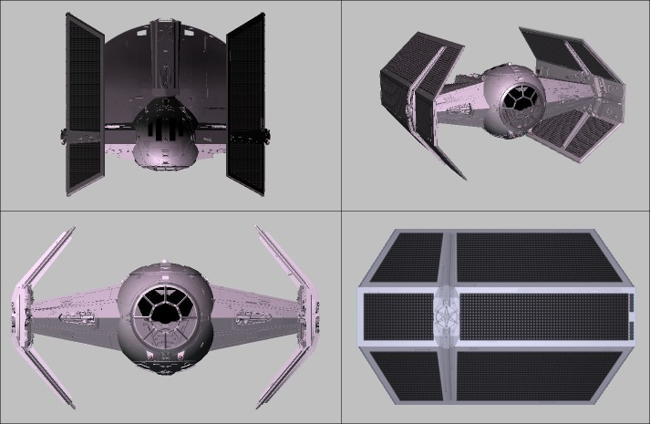wars tie advanced x1 fighter 3ds projects 3d